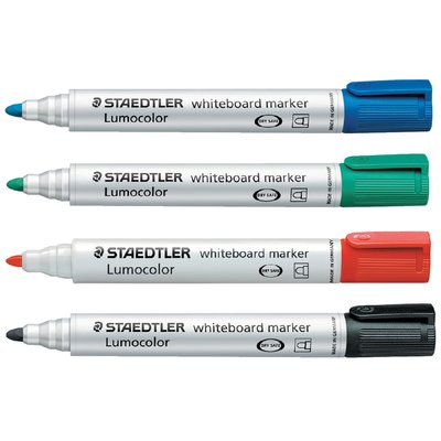 Viltstift Staedtler 351 whiteboard rond zwart 2mm