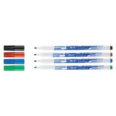 Viltstift Bic 1721 whiteboard rond assorti 1.5mm set à 4st